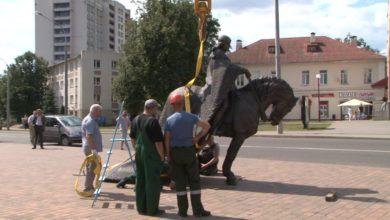 Photo of Лиде установили памятник Гедимину
