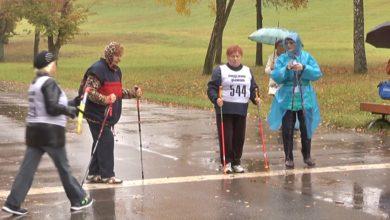 Photo of В Лиде прошли городские соревнования по скандинавской ходьбе среди людей пожилого возраста