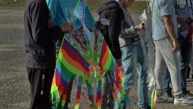 Впервые в Лиде прошел районный конкурс воздушных змеев «Пёстрое небо»