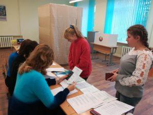 Молодёжь Лидчины активно голосует досрочно.