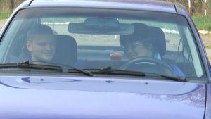 Инвалиды по зрению в Лиде осуществили мечту и попробовали себя в роли водителей