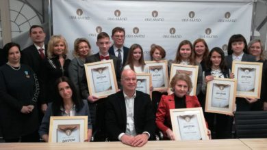 Лидчанка Мария Стрибуть за достижения в плавании получила премию Фонда Olvi.