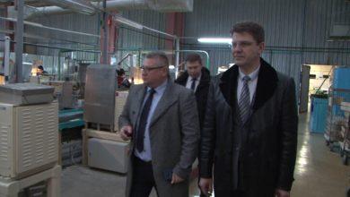 Стеклозавод «Неман» посетил заместитель премьер-министра Беларуси Владимир Кухарев