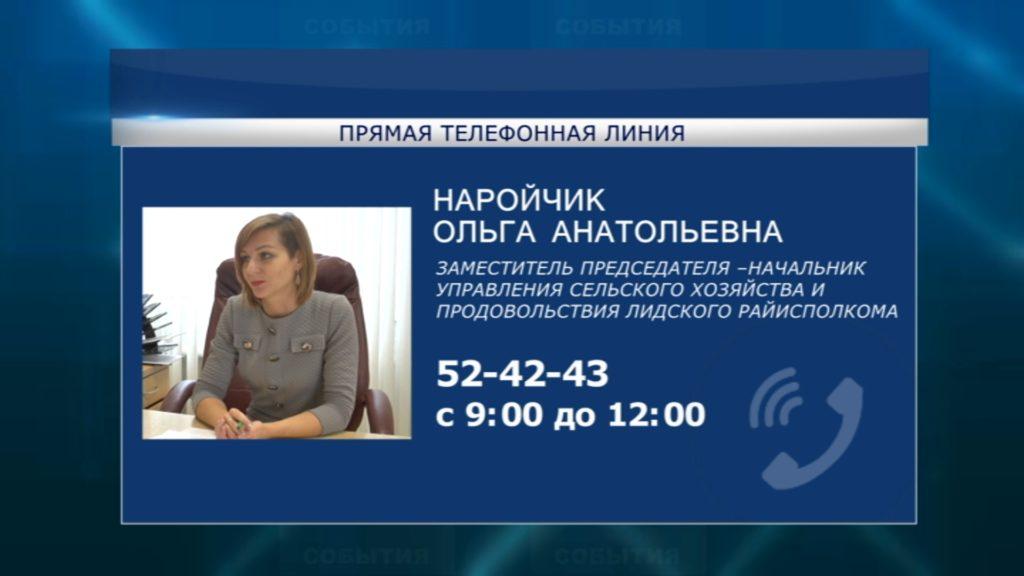 14 марта субботнюю «прямую телефонную линию» в Лиде проведет Ольга Наройчик