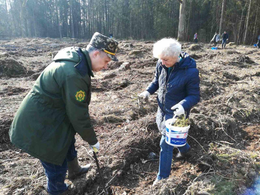 """Около 200 жителей Лидского района поддержали акцию """"Неделя леса"""" в первый день её проведение."""