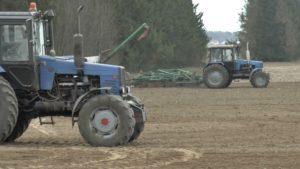 Сев ранних яровых зерновых и зернобобовых культур в Лидском районе близится к завершению