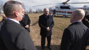 Президент Беларуси Александр Лукашенко посетил березовский стеклозавод «Неман»