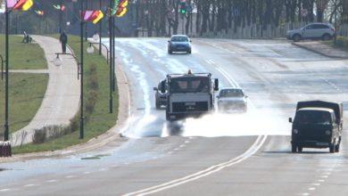 Photo of В Лиде дезинфицируются улицы и места общего пользования