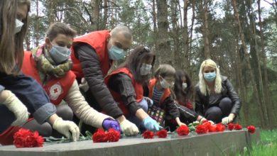 Лидчане поддержали акцию «Беларусь помнит. Помним всех»