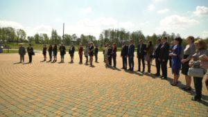Торжественное поднятие государственного флага состоялось в Лиде