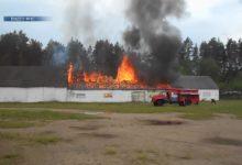 Photo of Минувшей ночью загорелся склад запчастей в агрогородке Гуды