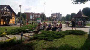 В Лиде открыли сезон творческих встреч в рамках арт-программы «Балкон»