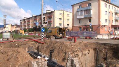 Photo of На перекрестке улиц Советской и Ленинской ведутся ремонтные работы