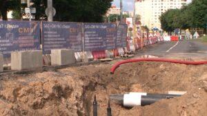 На перекрестке улиц Советской и Ленинской ведутся ремонтные работы