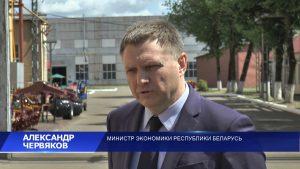 Министр экономики Беларуси Александр Червяков посетил Лидский район