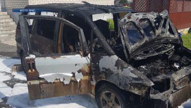 27 июля днём лидские спасатели выезжали на тушение автомобиля в д. Огородники
