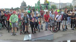 В Лиде по просьбе местной молодежи руководство города открыло скейт-парк