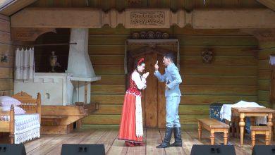 В Лидском замке показали спектакль «Паўлінка»
