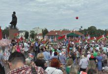 Лидчане приняли участие в митинге на площади Ленина в Гродно