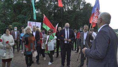 Коллективы Лидских электрических сетей и Лидских тепловых сетей приняли участие в митинге «За Беларусь»