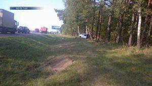 15 сентября вблизи агрогородка Ёдки опрокинулся автомобиль