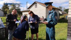 Смотровые комиссии продолжают работу по обследованию домовладений граждан на соблюдение основных правил пожарной безопасности