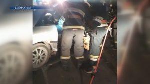 В Лиде легковушка врезалась в стоящий автомобиль