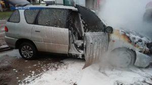 На прошлой неделе в Лиде горел автомобиль