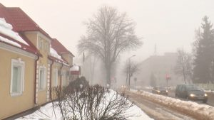 Как и прогнозировали синоптики, сегодня утром был туман