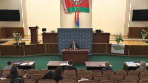 В Лидском райисполкоме впервые организовали брифинг для республиканских, областных и районных СМИ