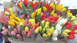 В Лиде организована торговля цветочной продукцией на улице Советской