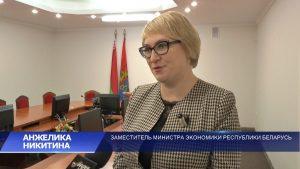 Лидчину посетила заместитель министра экономики Беларуси Анжелика Никитина