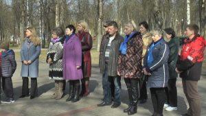В городском парке у мемориального комплекса на братской могиле воинов Красной Армии прошел митинг
