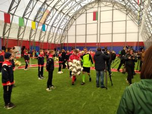 Торжественное открытие крытой мини-футбольной площадки состоялось сегодня в Лиде.
