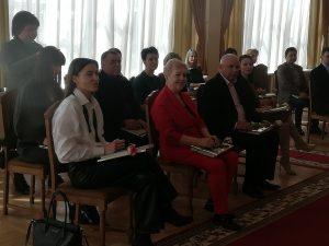 Сегодня состоялся торжественный прием у председателя Лидского райисполкома с чествованием работников печати, радио, телевидения и связи.